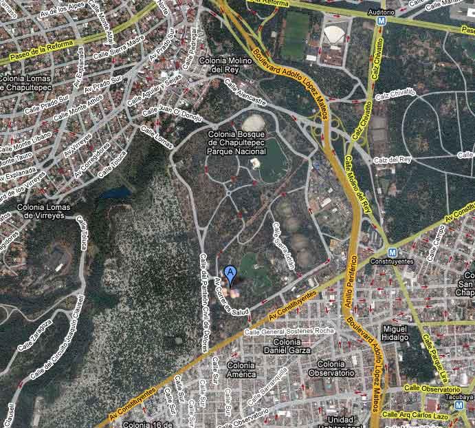 Mapa de ubicación del M.H.N. (Google Maps)